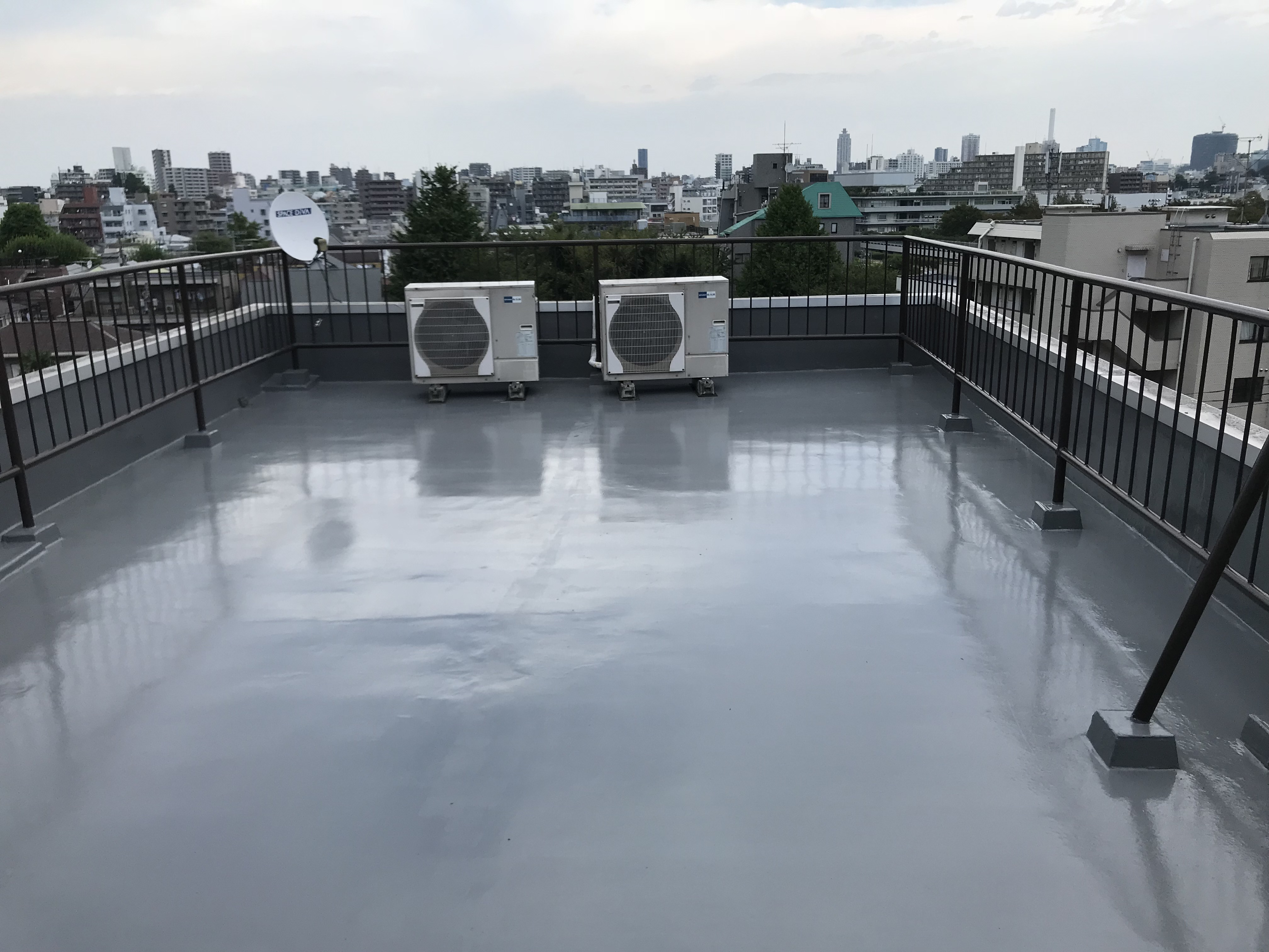 屋上防水施工後