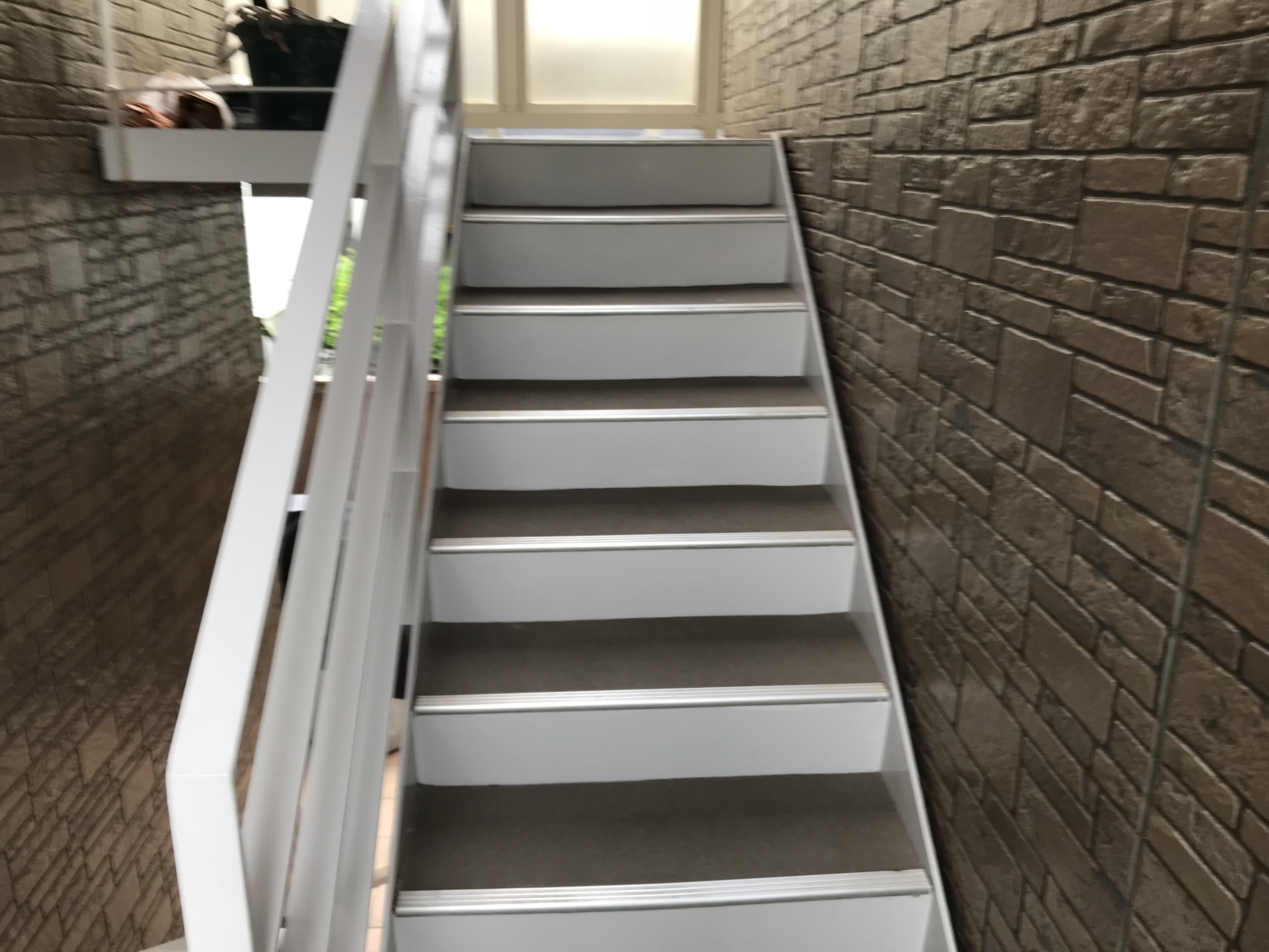 階段長尺施工前